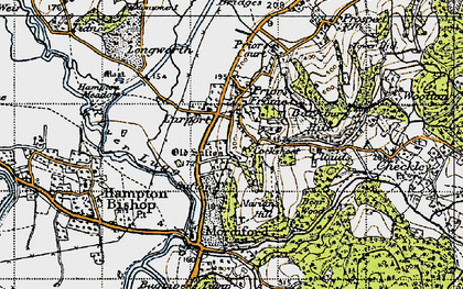 Old map of Larport in 1947
