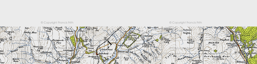 Old map of Larriston Rigg in 1947