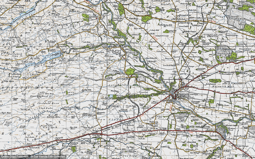 Old Map of Lartington, 1947 in 1947
