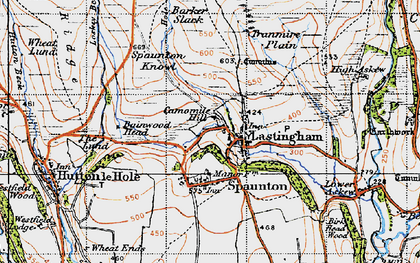 Old map of Bainwood Head in 1947
