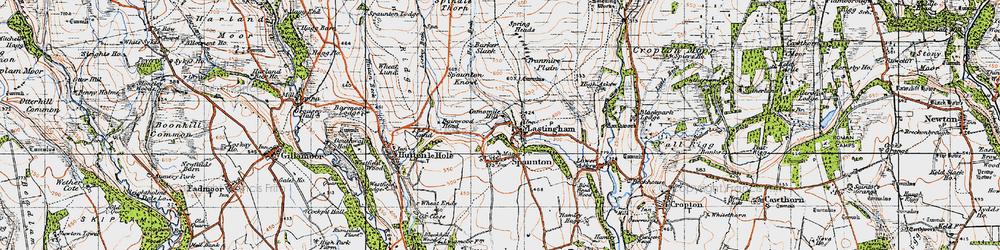 Old map of Lastingham in 1947