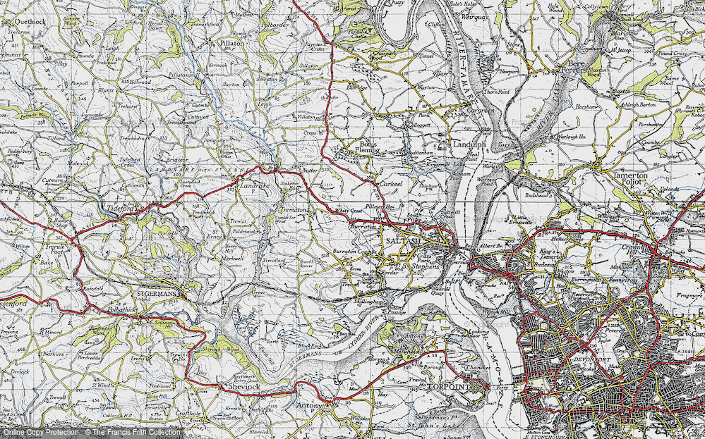 Old Map of Latchbrook, 1946 in 1946
