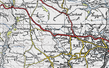Old map of Latchbrook in 1946