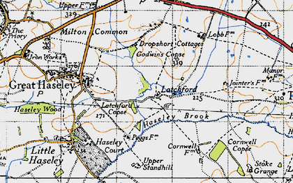 Old map of Latchford in 1947