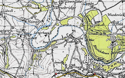 Old map of Latchley in 1946