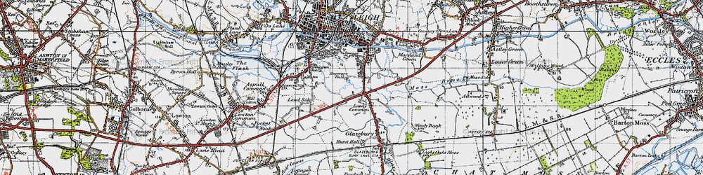 Old map of Lately Common in 1947