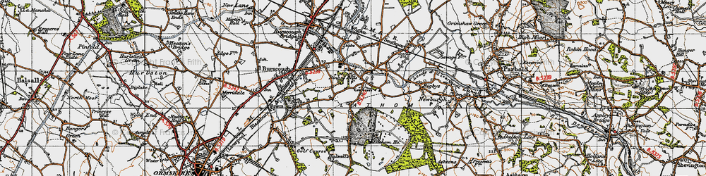 Old map of Lathom Ho in 1947