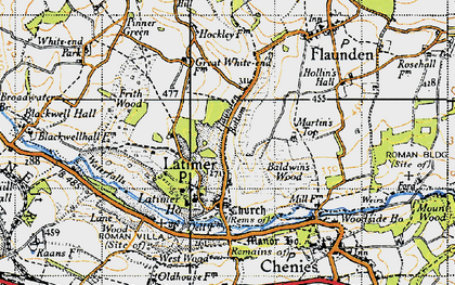 Old map of Latimer in 1946