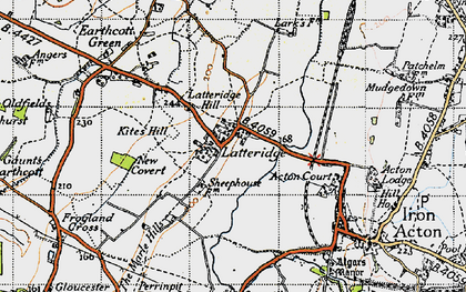 Old map of Latteridge in 1946