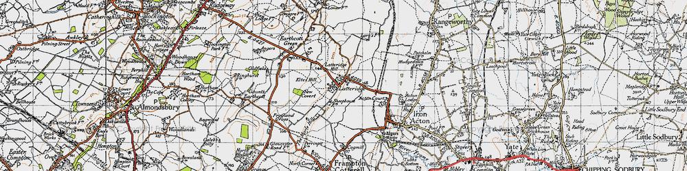 Old map of Latteridge in 1946