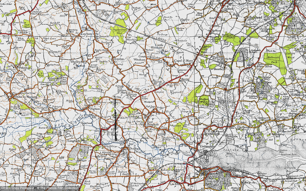 Old Map of Lattinford Hill, 1946 in 1946