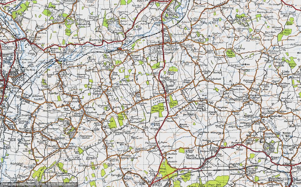 Old Map of Latton Bush, 1946 in 1946