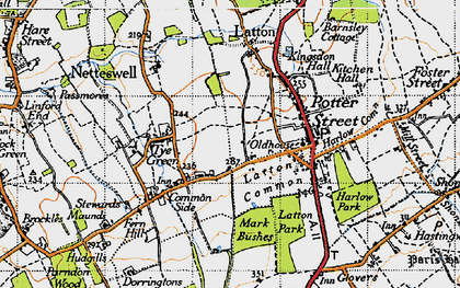 Old map of Latton Bush in 1946