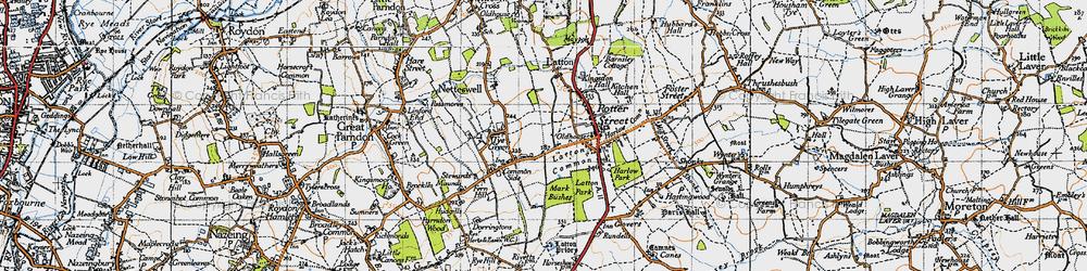 Old map of Latton Bush in 1946