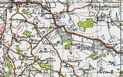 Old map of Laughern Hill in 1947