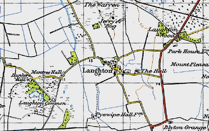 Old map of Laughton Wood in 1947