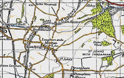 Old map of Laughton en le Morthen in 1947