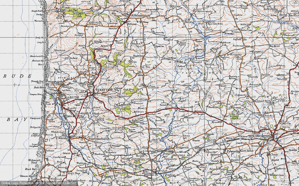 Old Map of Launcells Cross, 1946 in 1946