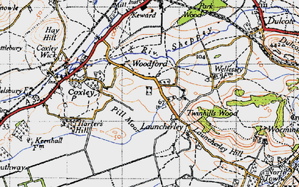 Old map of Launcherley in 1946