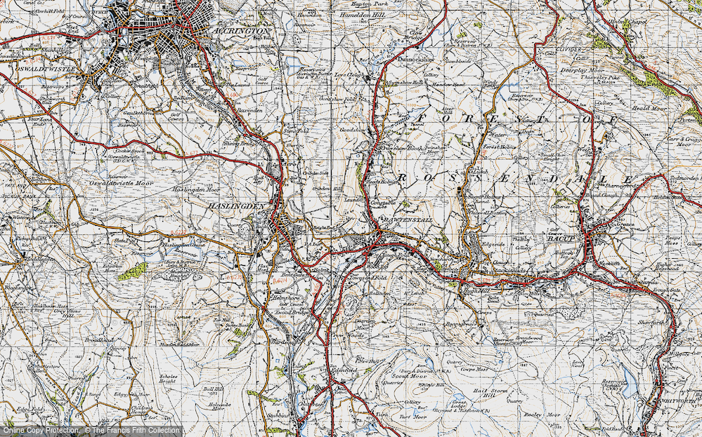 Old Map of Laund, 1947 in 1947