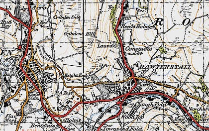 Old map of Laund in 1947