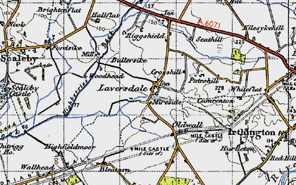 Old map of Laversdale in 1947