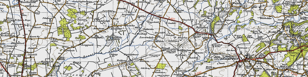 Old map of Woodhead in 1947
