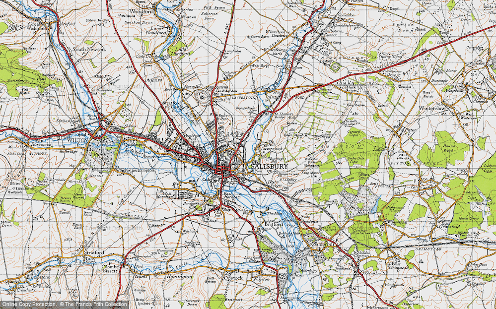 Old Map of Laverstock, 1940 in 1940