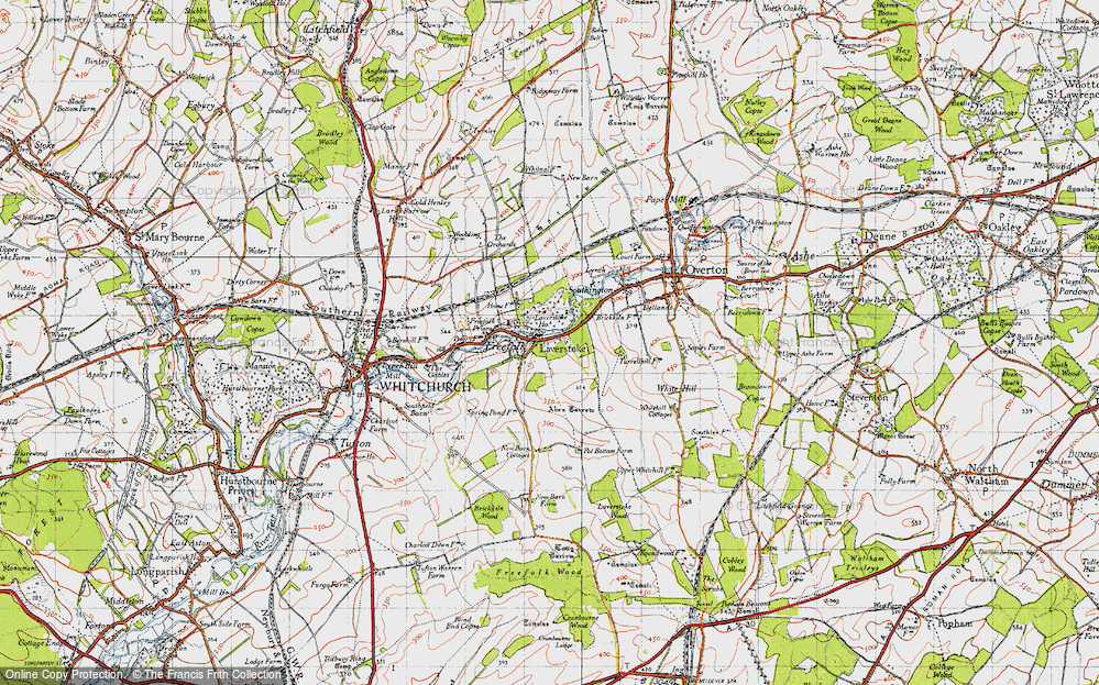 Old Map of Laverstoke, 1945 in 1945