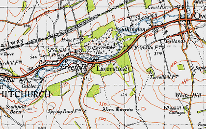Old map of Laverstoke Wood in 1945