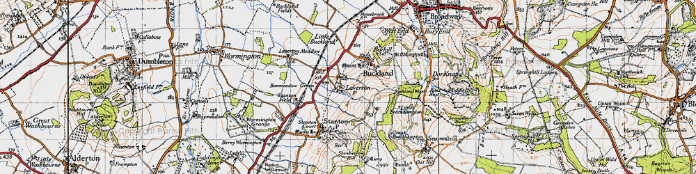 Old map of Laverton in 1946