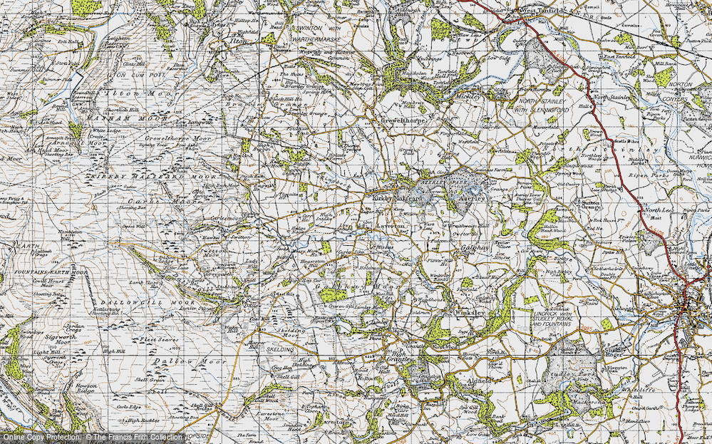 Old Map of Laverton, 1947 in 1947