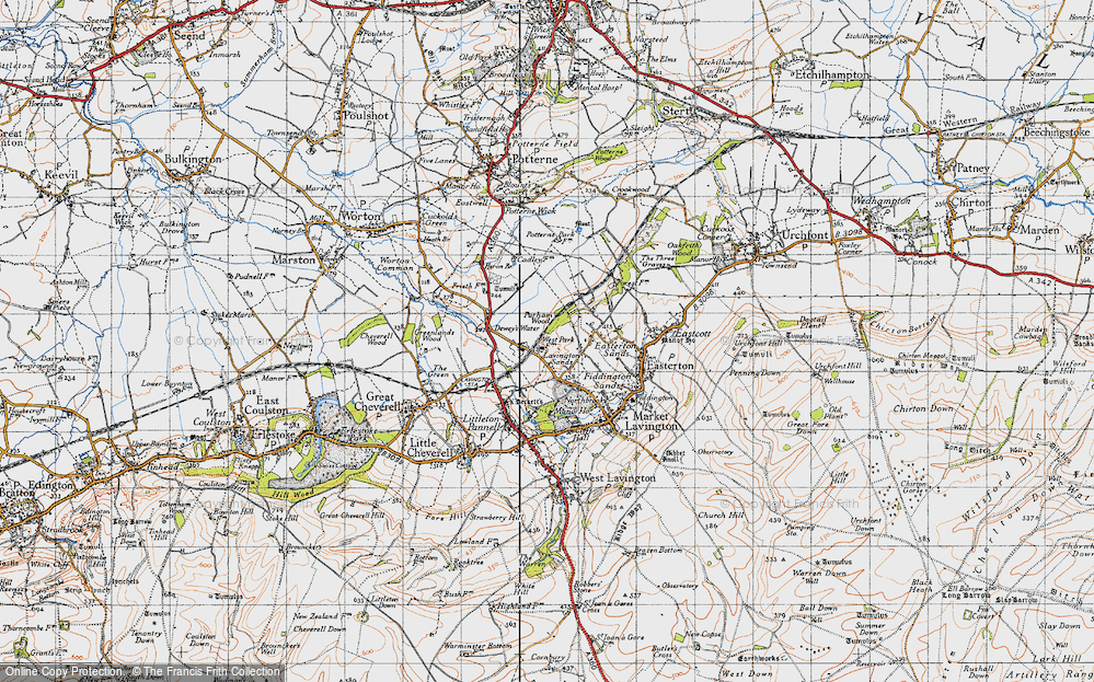 Old Map of Lavington Sands, 1940 in 1940