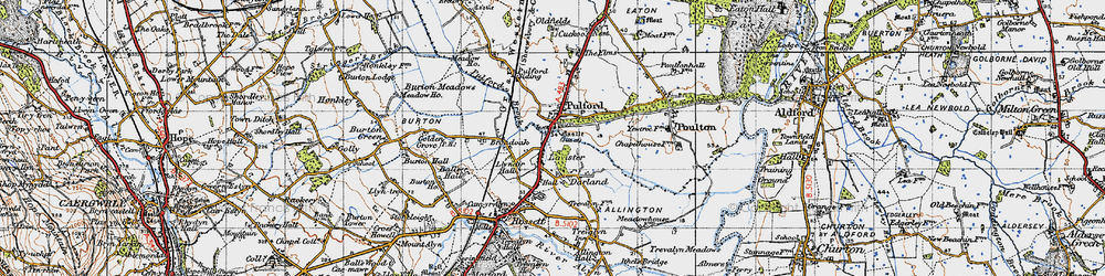 Old map of Lavister in 1947
