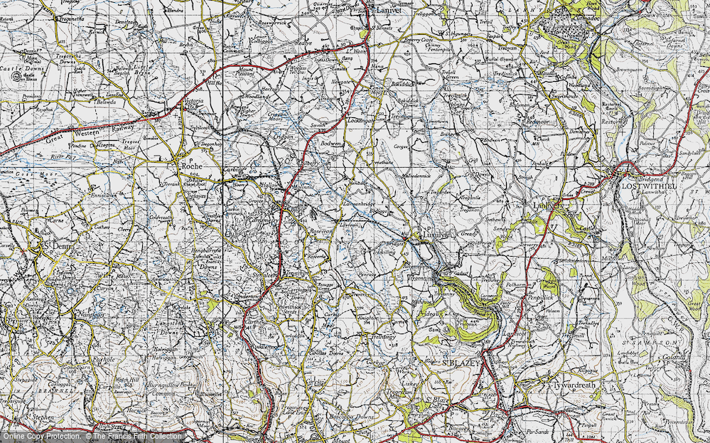 Old Map of Historic Map covering Lestoon in 1946