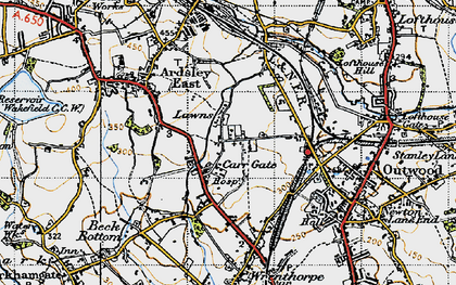 Old map of Lawns in 1947