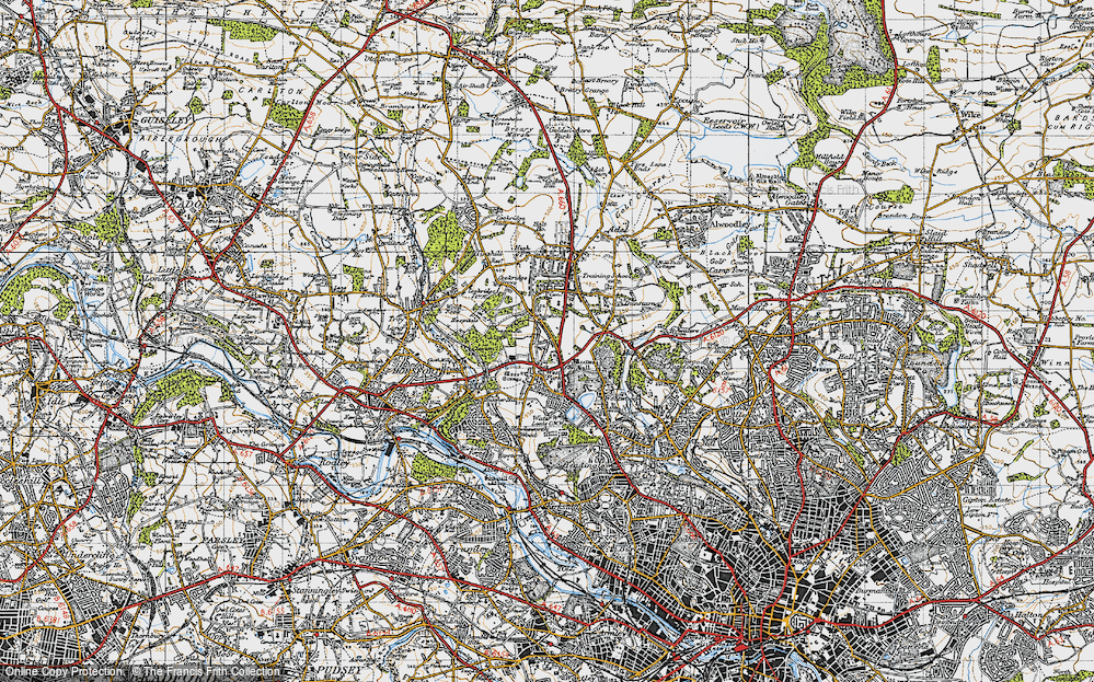 Old Map of Lawnswood, 1947 in 1947