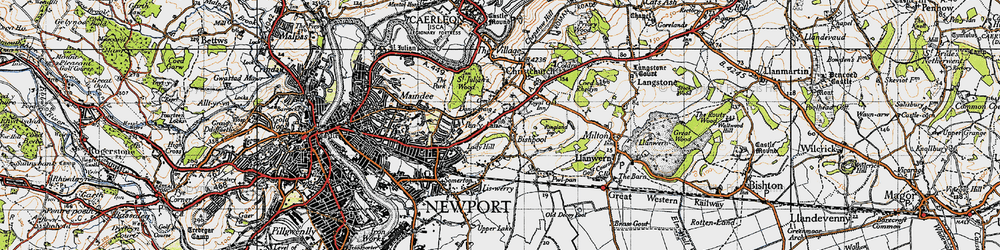 Old map of Lawrence Hill in 1946