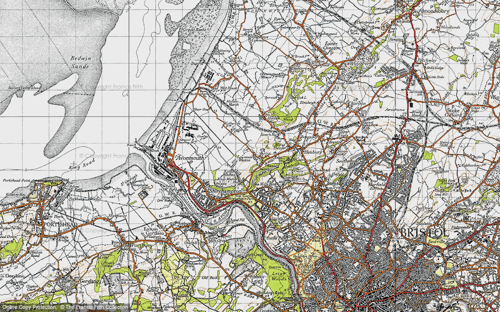 Old Map of Lawrence Weston, 1946 in 1946