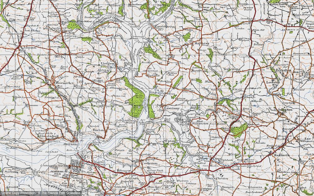 Old Map of Lawrenny, 1946 in 1946