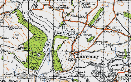 Old map of Lawrenny in 1946