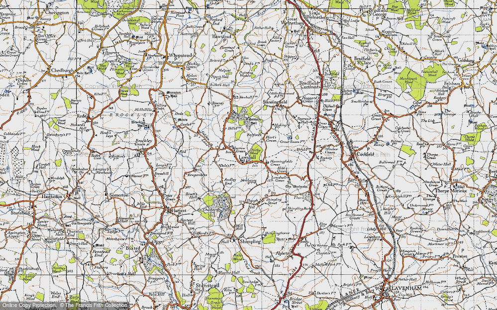 Old Map of Historic Map covering Barfords in 1946
