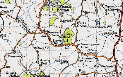 Old map of Barfords in 1946