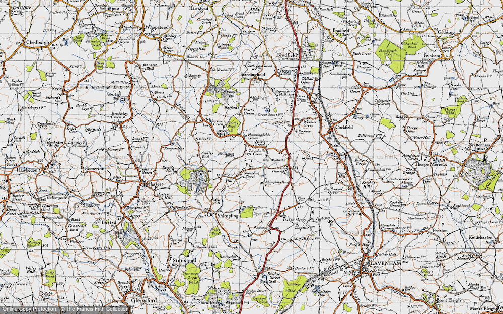 Old Map of Lawshall Green, 1946 in 1946