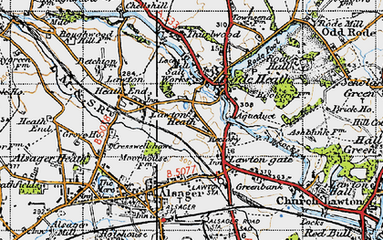 Old map of Lawton Heath in 1947