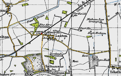 Old map of Laxton in 1947