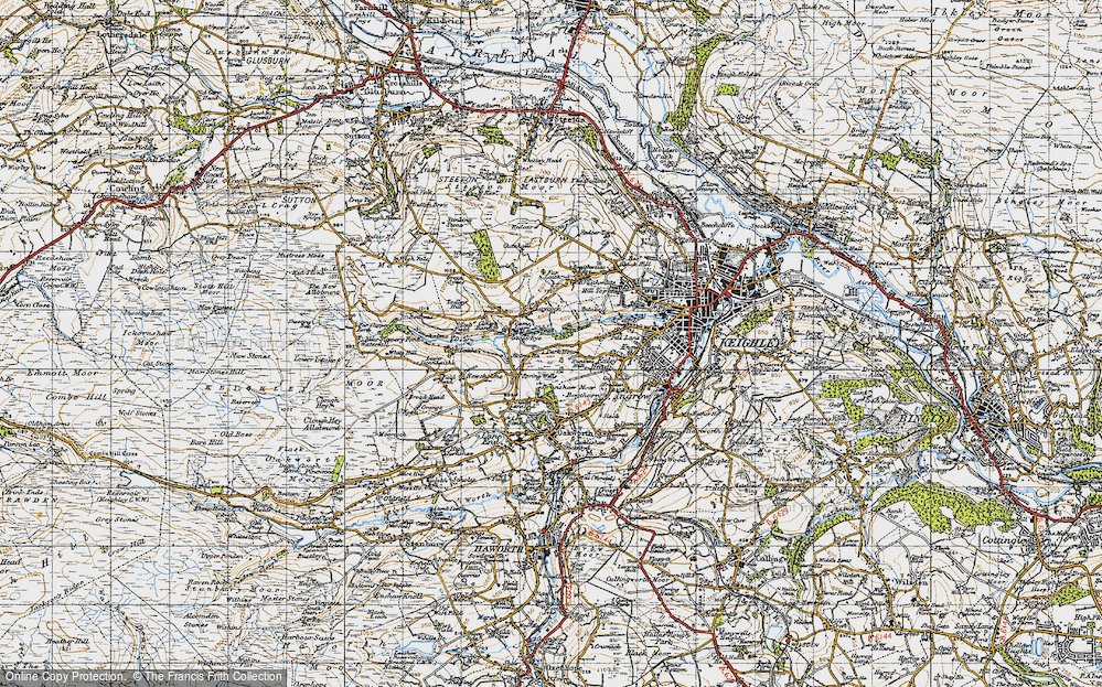 Old Map of Laycock, 1947 in 1947