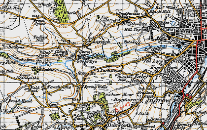 Old map of Laycock in 1947