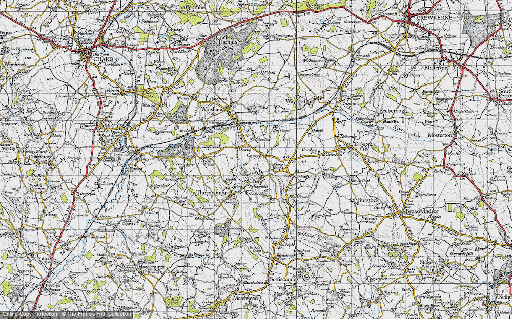 Old Map of Laymore, 1945 in 1945