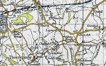 Old map of Laymore in 1945